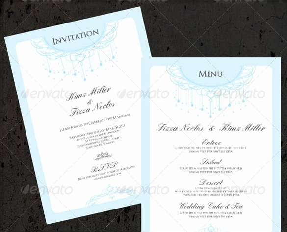Free Wedding Menu Template Fresh 37 Wedding Menu Template – Free Sample Example format