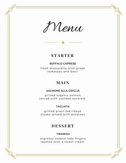 Free Wedding Menu Template New Customize 273 Wedding Menu Templates Online Canva