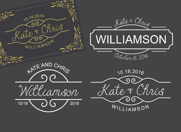 Free Wedding Monogram Template Awesome Wedding Logo Template – 90 Free Psd Eps Ai Illustrator