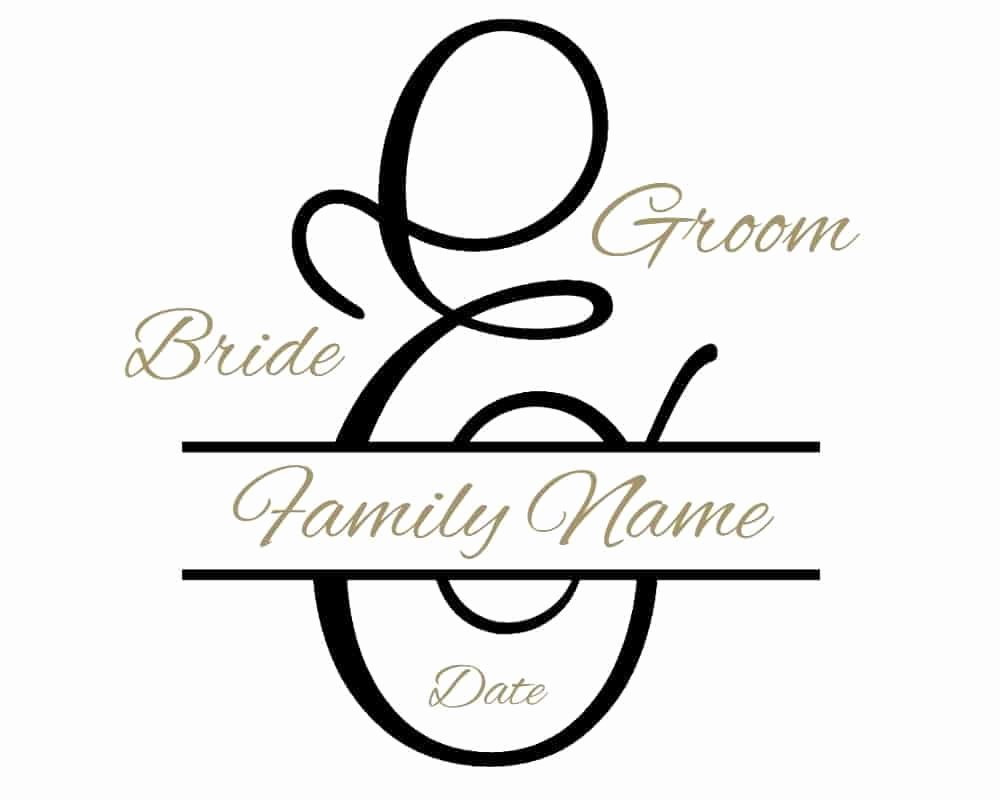 Free Wedding Monogram Template Best Of Free Custom Wedding Monogram