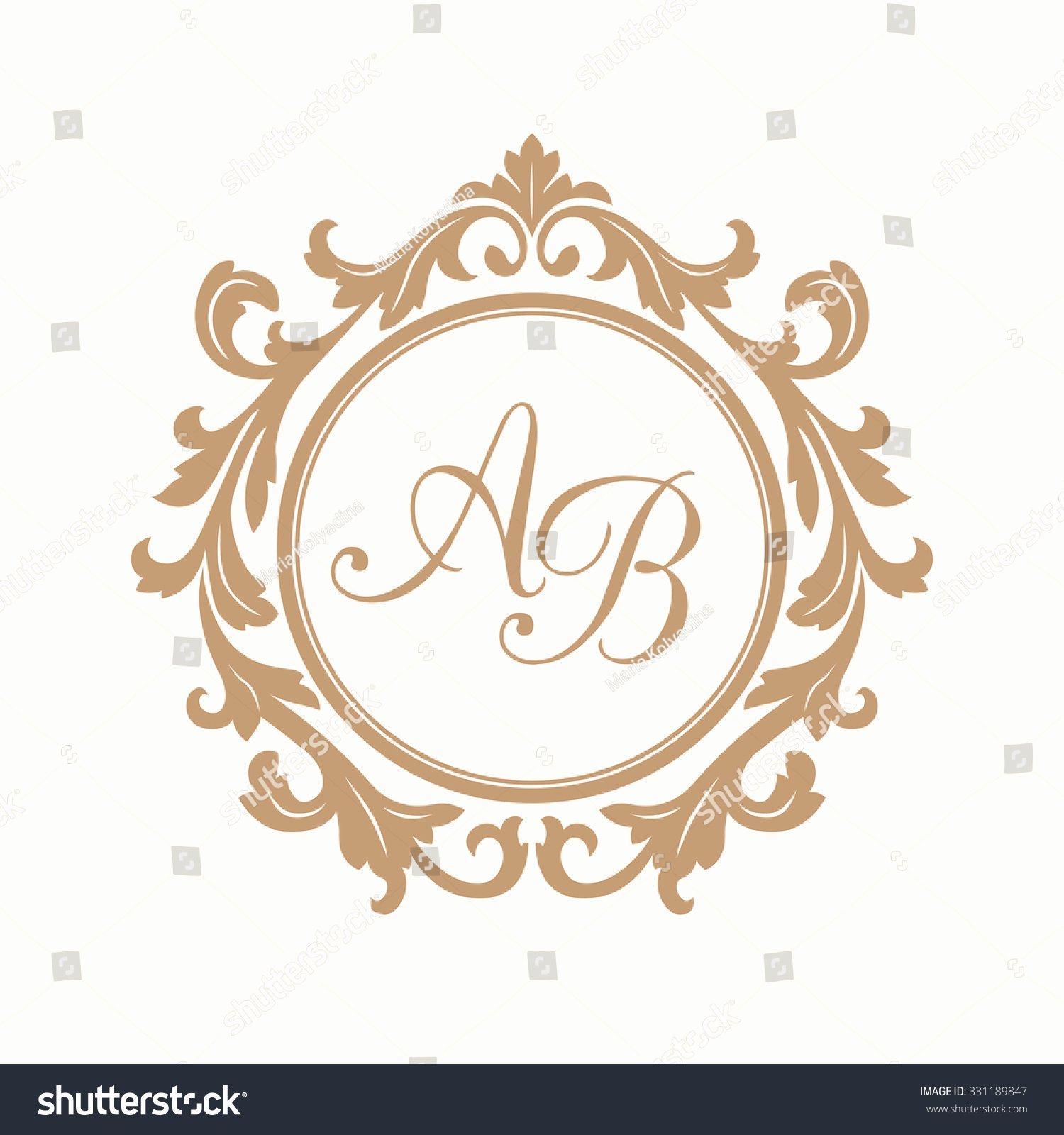 Free Wedding Monogram Template Elegant Elegant Floral Monogram Design Template E Lager Vektor