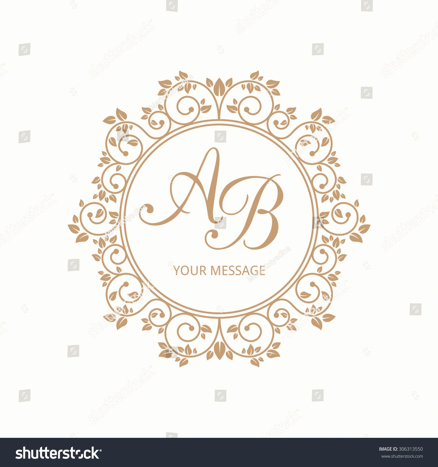 Free Wedding Monogram Template Fresh Elegant Floral Monogram Design Template E Imagem