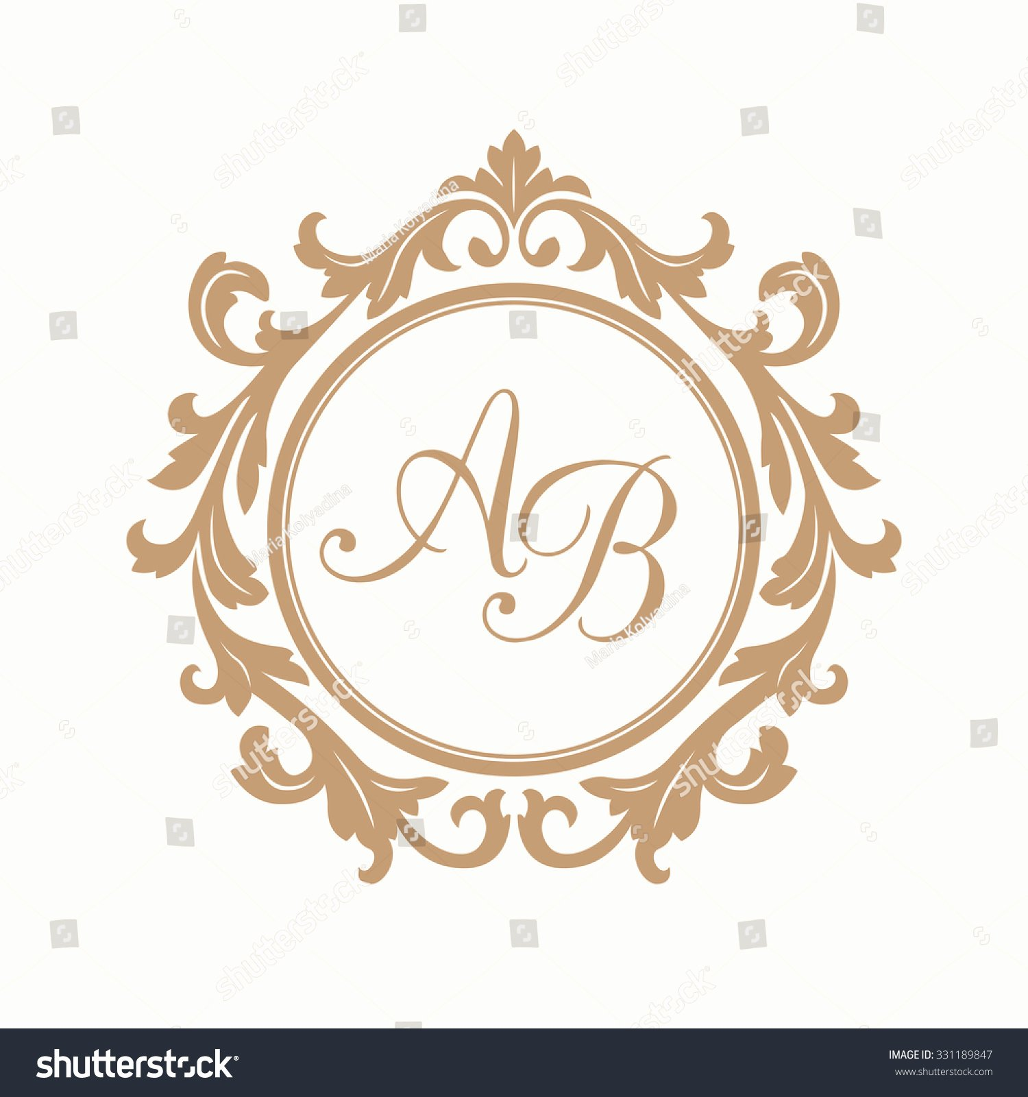 Free Wedding Monogram Template Inspirational Elegant Floral Monogram Design Template E Lager Vektor