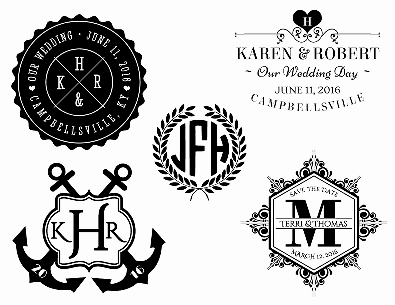 Free Wedding Monogram Template Inspirational Free Wedding Templates
