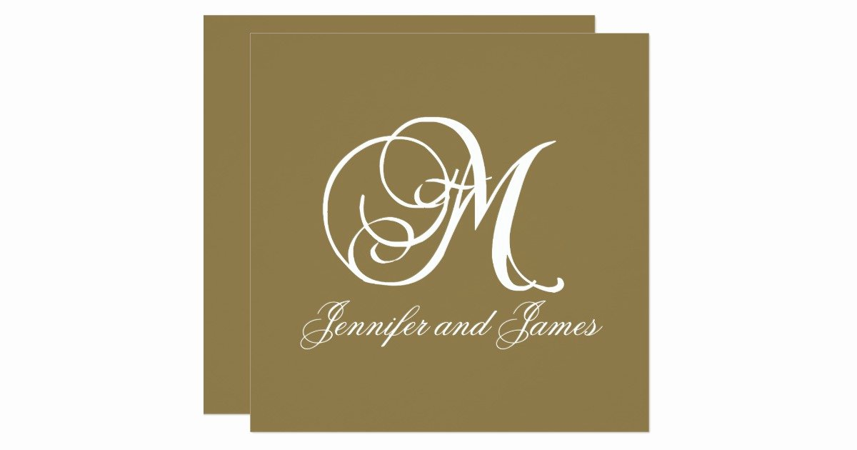 Free Wedding Monogram Template Lovely Gold Wedding Invitation Monogram M Template