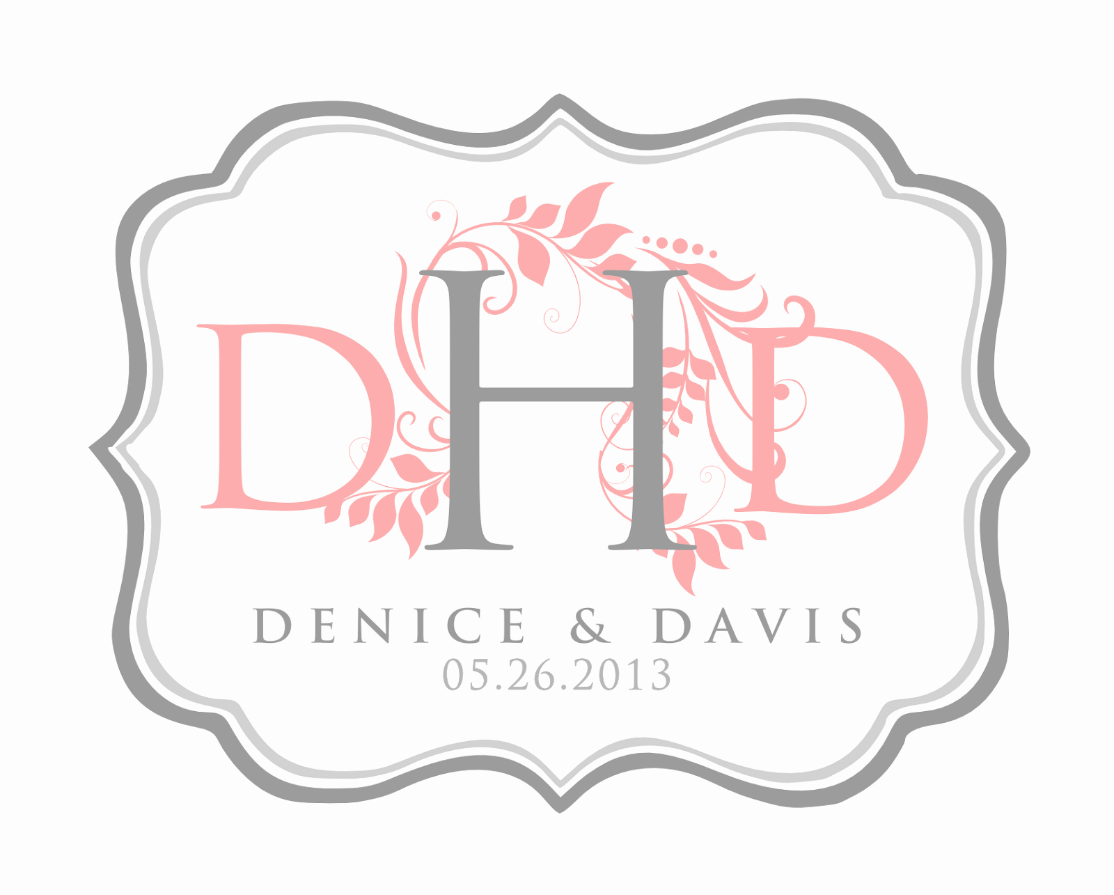 Free Wedding Monogram Template Lovely Signatures by Sarah Wedding Stationery for Denice