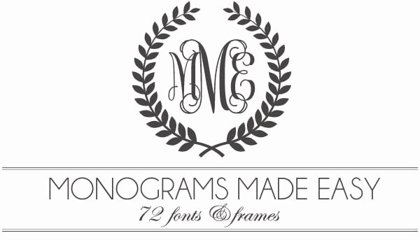 Free Wedding Monogram Template Luxury Monograms Made Easy 72 Fonts & Frames