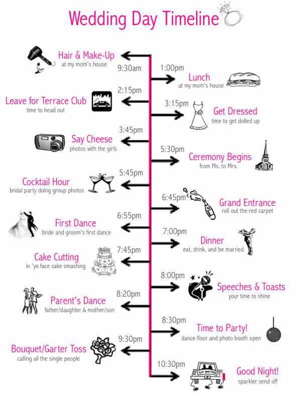 Free Wedding Timeline Template Best Of Wedding Day Timeline Template