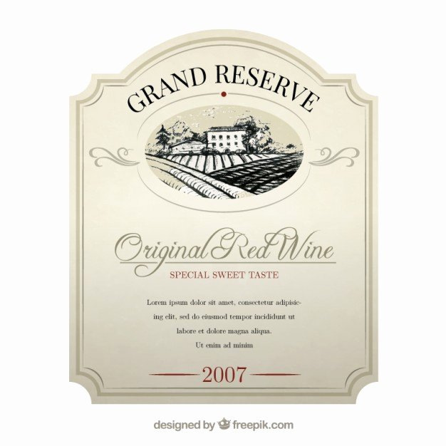 Free Wine Label Template Awesome Elegant Wine Label Vector
