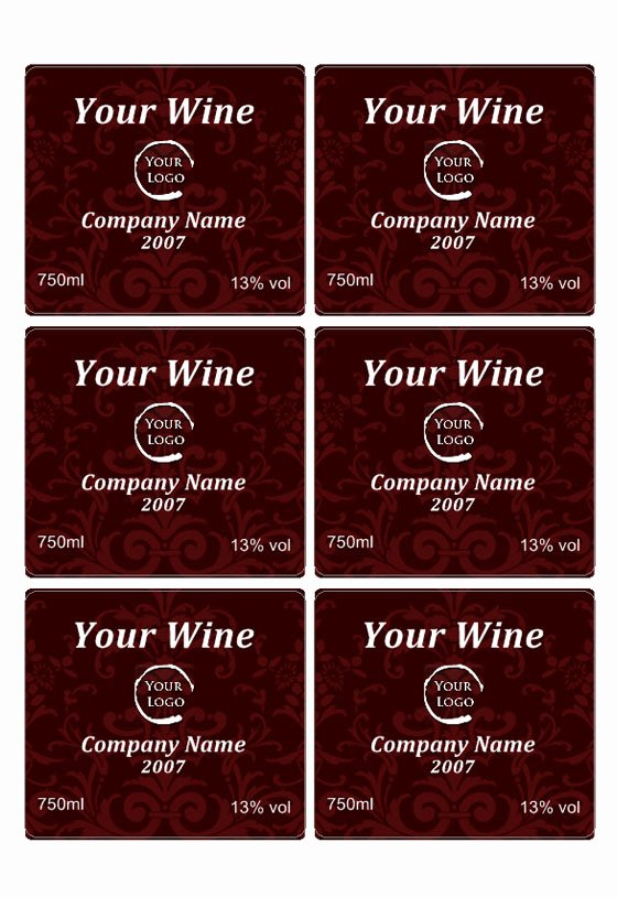 Free Wine Label Template Awesome Wine Label Template