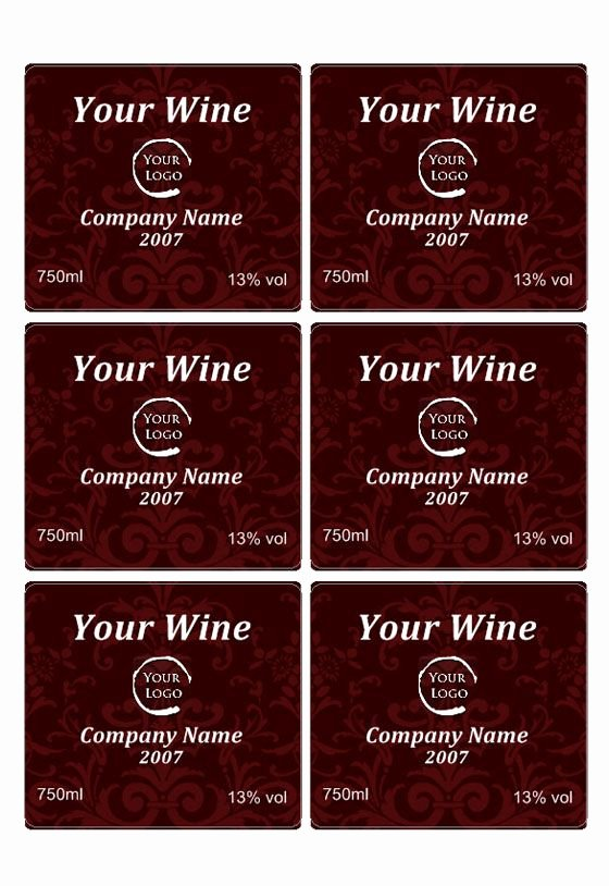 Free Wine Label Template Elegant Free Wine Label Downloads Wine Label Template