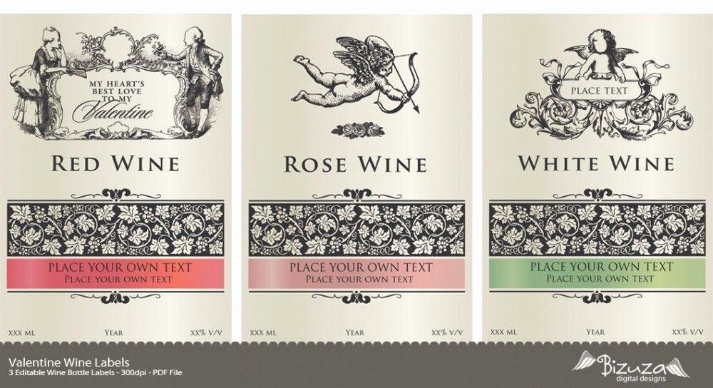 Free Wine Label Template Elegant Printable Wine Label