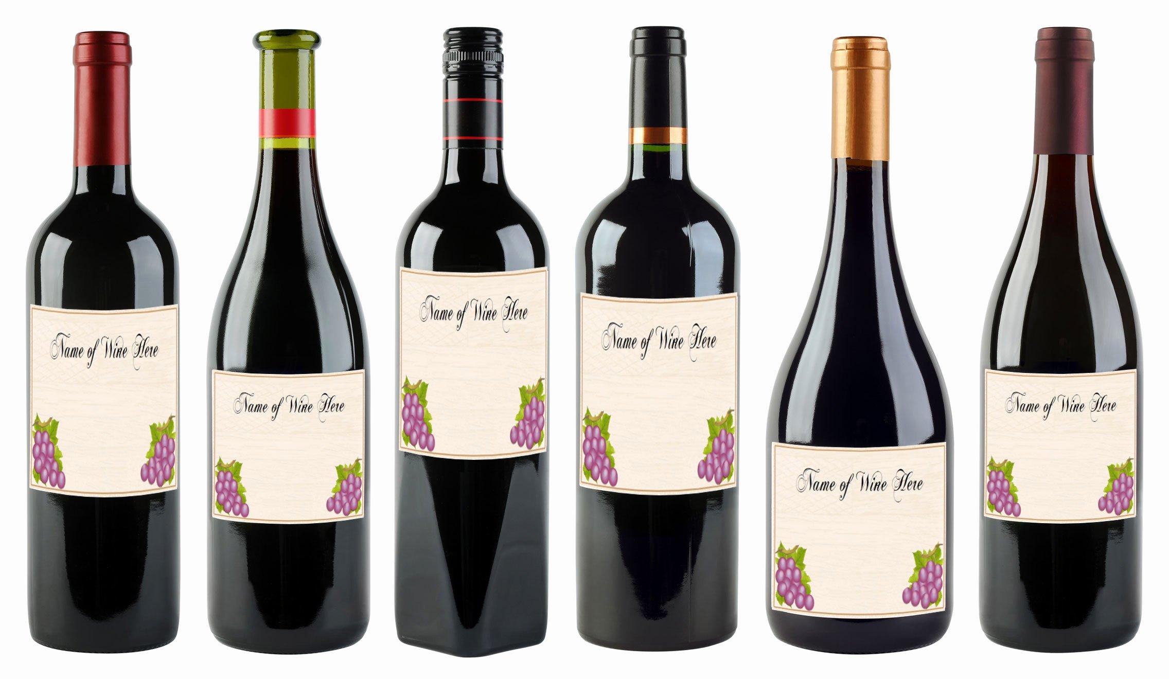 Free Wine Label Template Fresh Wine Bottle Labels Template Bamboodownunder