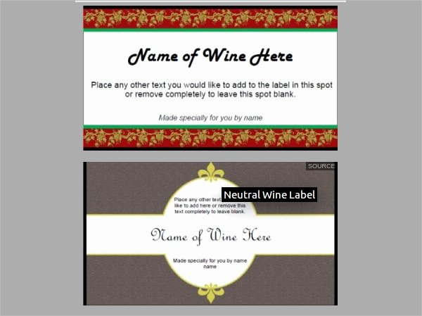 Free Wine Label Template Lovely 17 Free Label Templates Psd Vector Eps Download