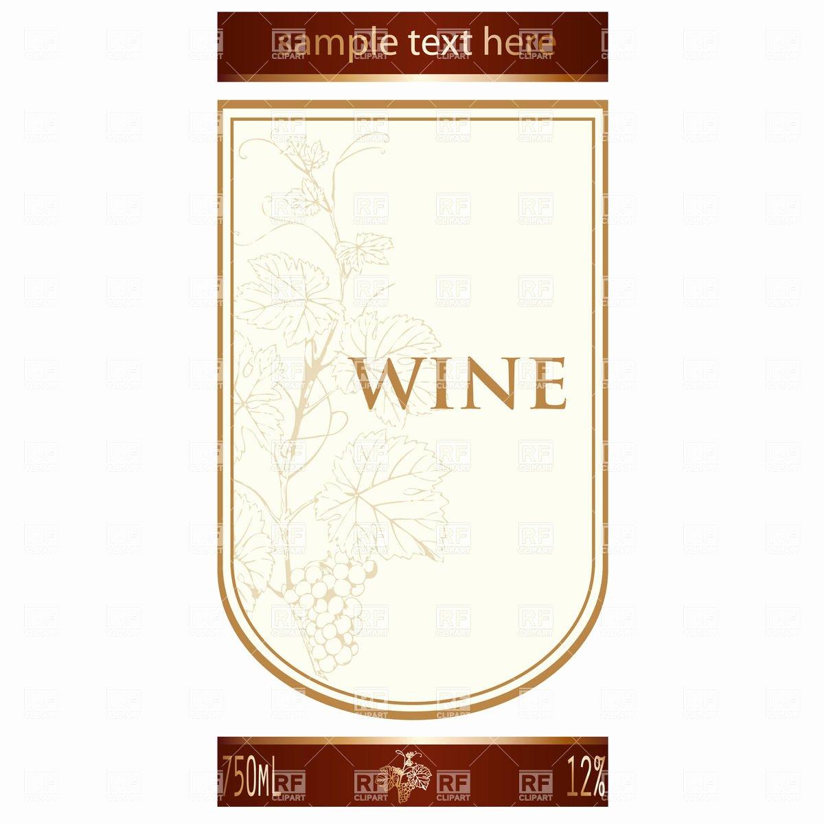Free Wine Label Template Unique Label Templates Clipart Clipart Suggest