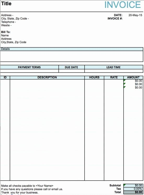 Freelance Artist Invoice Template Fresh Free Artist Invoice Template Excel Pdf