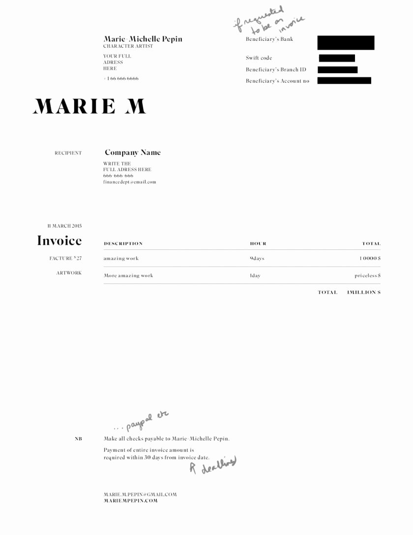 Freelance Artist Invoice Template Fresh Free Freelance Independent Contractor Invoice Template
