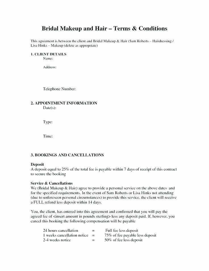 freelance makeup artist contract doc great agreement