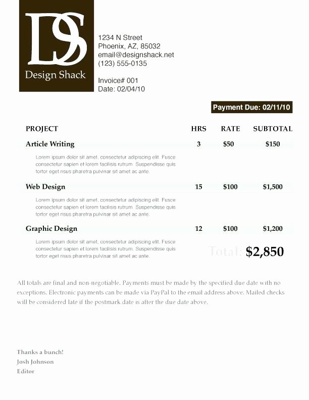 Freelance Artist Invoice Template Unique Freelance Artist Invoice Creative Invoice Designs Great