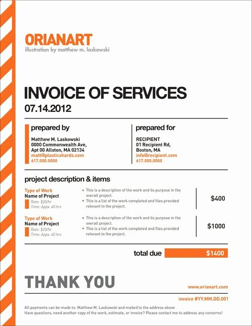 Freelance Design Invoice Template Awesome Very Nice Invoice Design by orianart Beautiful