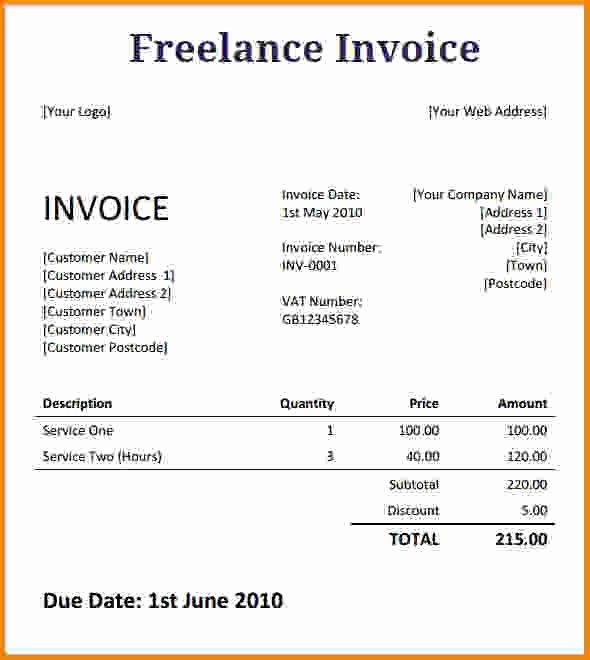 Freelance Design Invoice Template Fresh [download] Freelance Writer Invoice Template Bonsai