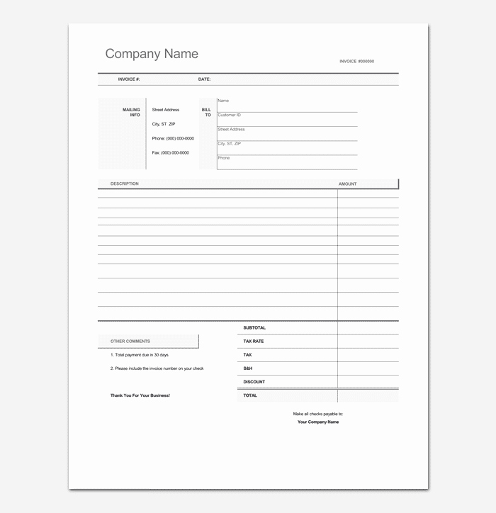Freelance Invoice Template Word Beautiful Freelance Invoice Template 5 for Word Excel & Pdf format