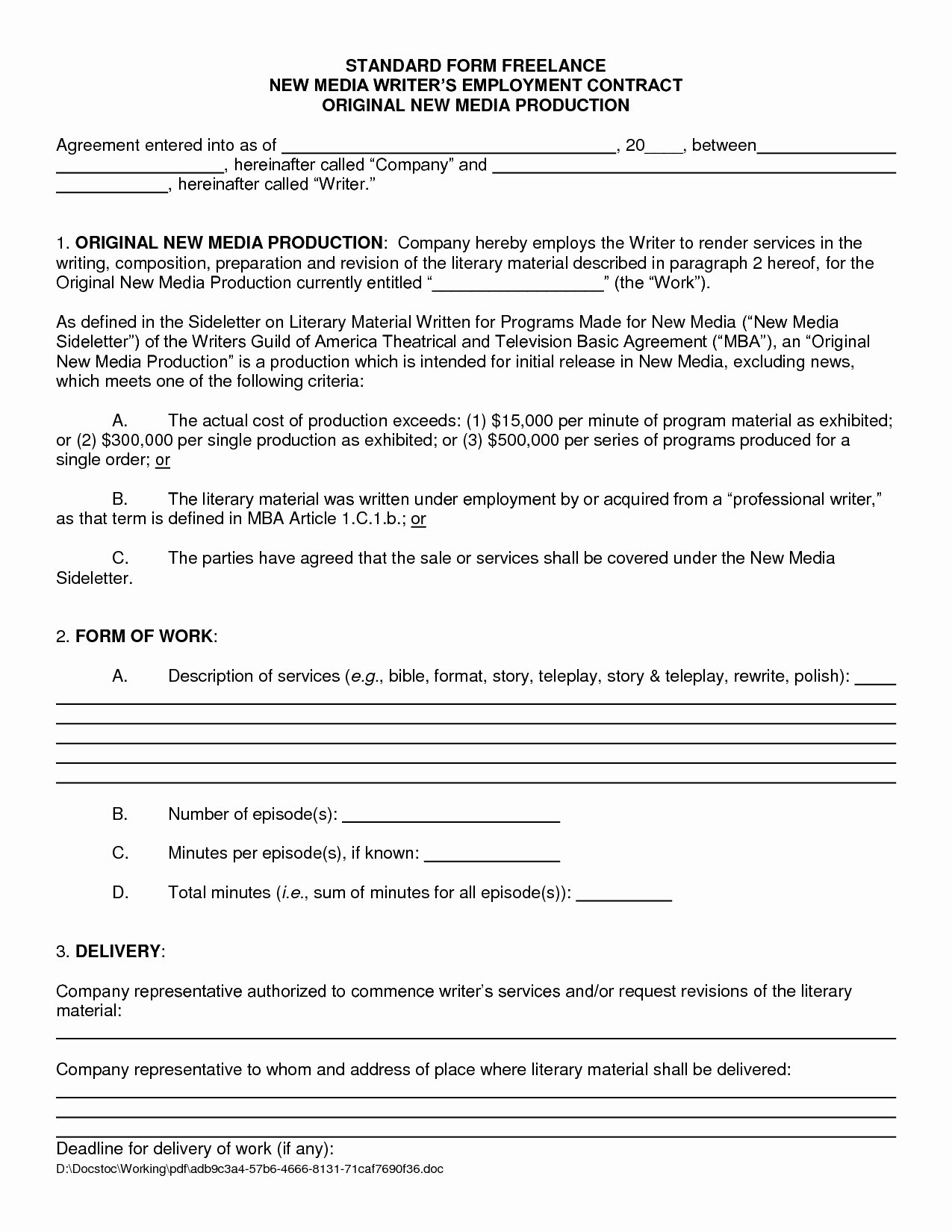 Freelance Retainer Contract Template Awesome Freelance Agreement Template
