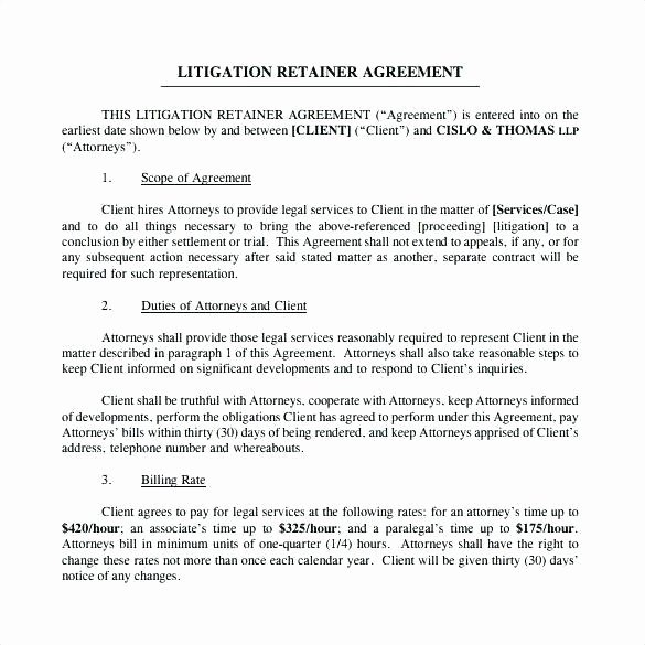 Freelance Retainer Contract Template Best Of Retainer Agreement Template