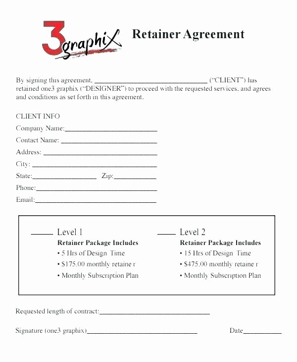 Freelance Retainer Contract Template Luxury Freelance Retainer Contract Template New Retainer