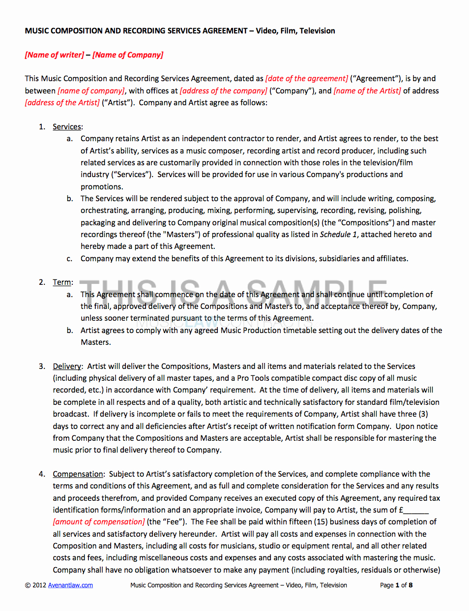 Freelance Videographer Contract Template Best Of Template Video Production Contract