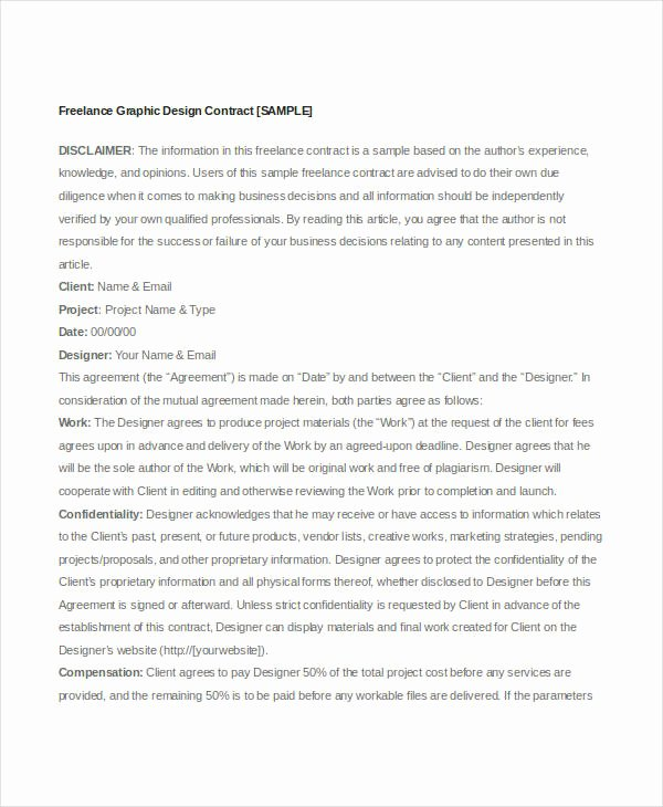 Freelance Videographer Contract Template Inspirational 13 Sample Freelance Contract Templates Free Sample
