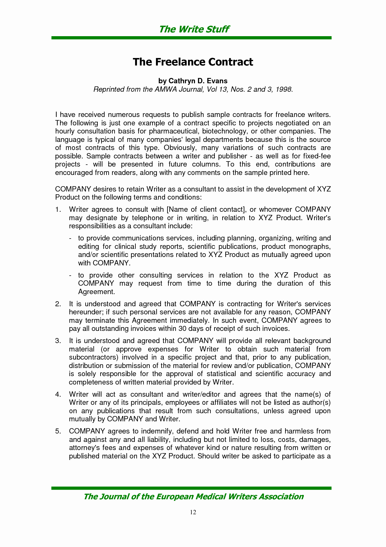 Freelance Videographer Contract Template Inspirational Freelance Contract Template