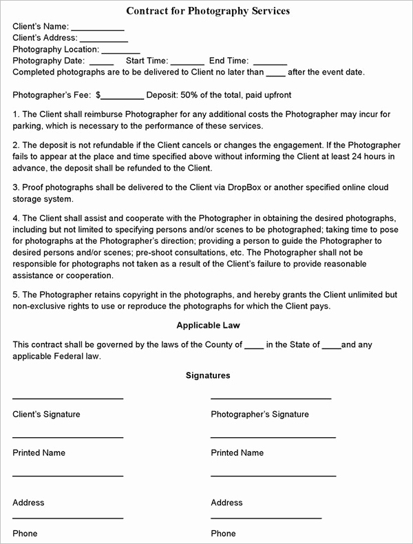Freelance Videographer Contract Template Luxury 15 Free Freelance Contract Templates Pdf format Samples