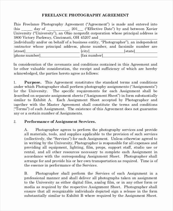 Freelance Videographer Contract Template New 13 Sample Freelance Contract Templates Free Sample
