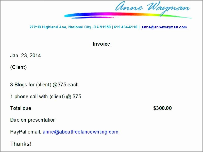 Freelance Writing Invoice Template Awesome 6 Tips for Creating Freelance Writing Invoices with Actual