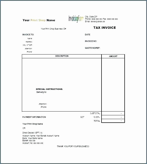 Freelance Writing Invoice Template Elegant Bank Invoice Template Bank Invoice Template Freelance