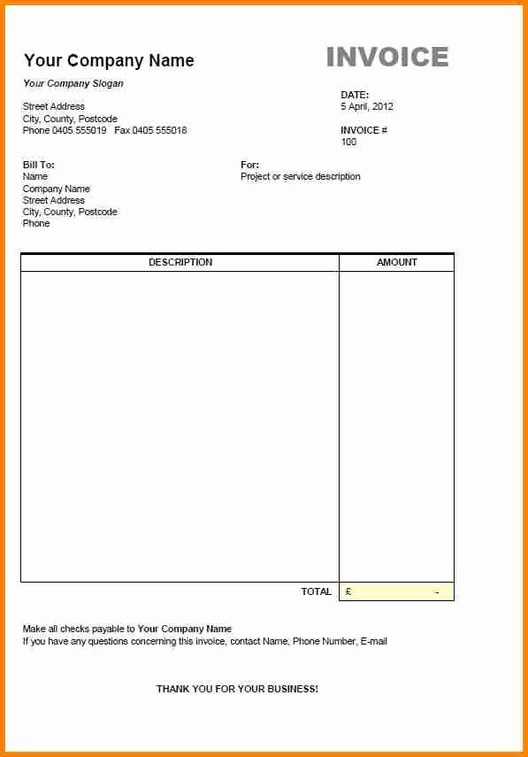 Freelance Writing Invoice Template Inspirational 8 Example Of Freelance Invoice