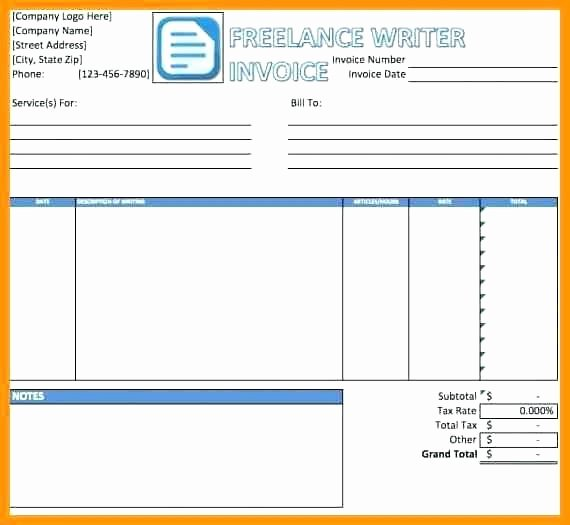 Freelance Writing Invoice Template Luxury Freelance Rate Card Template Step 5 Create A Bid
