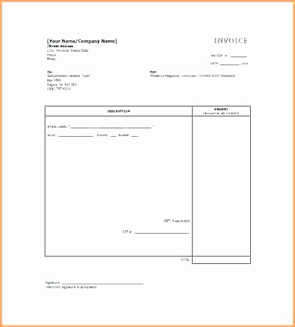 Freelance Writing Invoice Template Luxury Writing Invoice How to Write An Invoice for Services