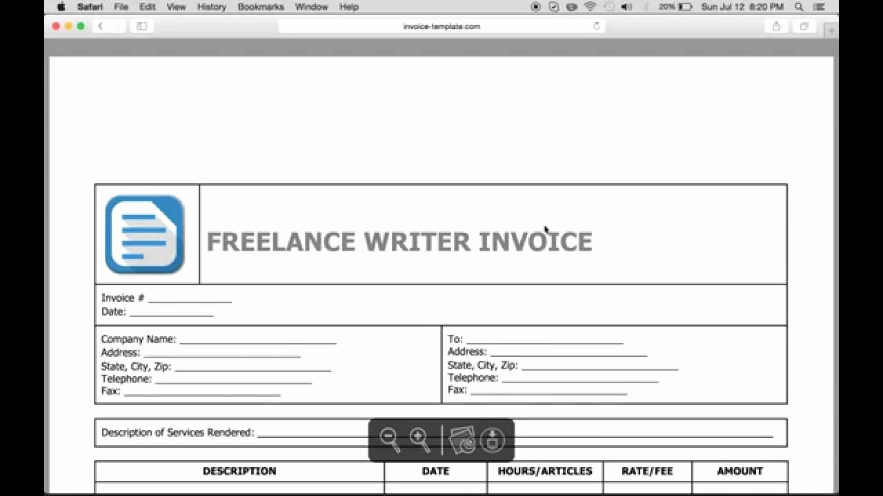 Freelance Writing Invoice Template Unique Write A Freelance Writer Invoice Excel Word