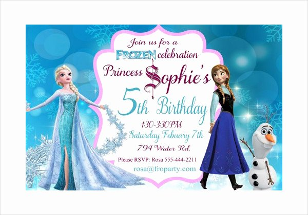 Frozen Birthday Invitation Template Awesome 13 Frozen Invitation Templates Word Psd Ai