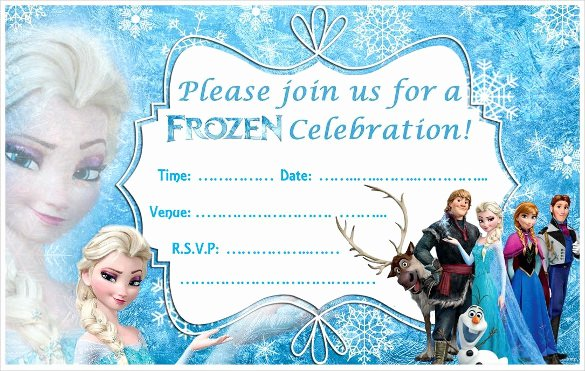Frozen Birthday Invitation Template Awesome 23 Frozen Birthday Invitation Templates Psd Ai Vector