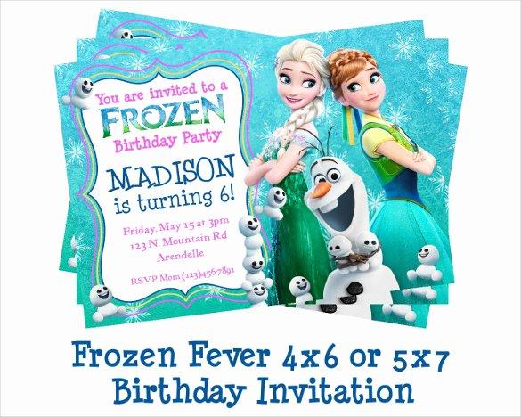 Frozen Birthday Invitation Template Beautiful 23 Frozen Birthday Invitation Templates Psd Ai Vector