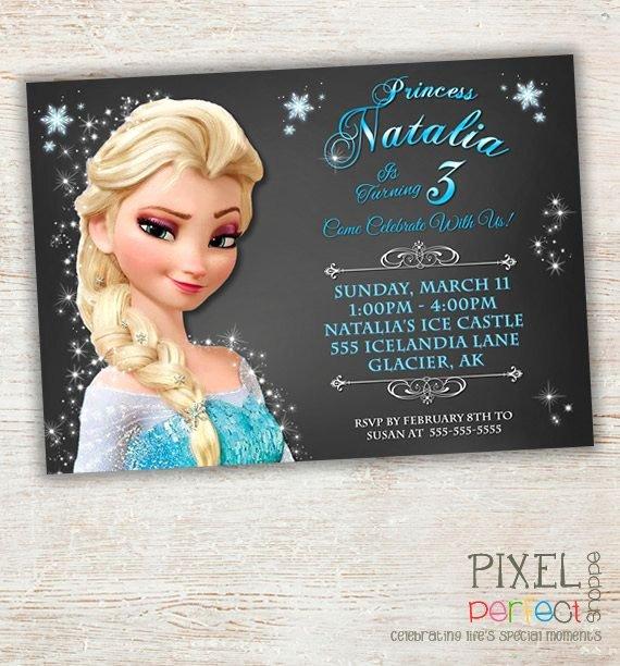 lovely frozen birthday card invitation template 8 photo invitation