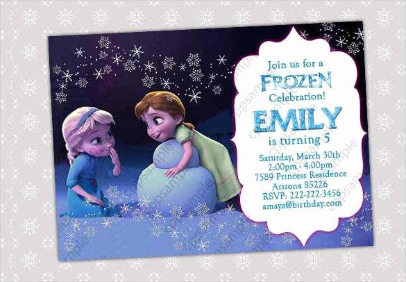 Frozen Birthday Invitation Template Fresh 23 Frozen Birthday Invitation Templates Psd Ai Vector