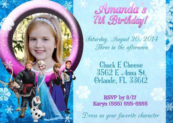 Frozen Birthday Invitation Template Inspirational 13 Frozen Invitation Templates Word Psd Ai