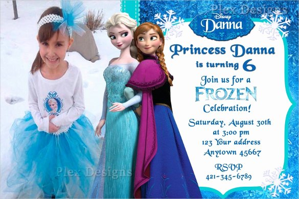 Frozen Birthday Invitation Template Inspirational 23 Frozen Birthday Invitation Templates Psd Ai Vector