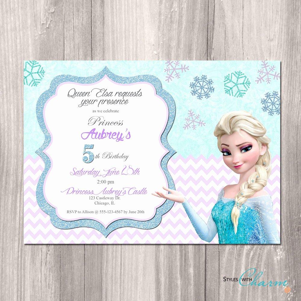 Frozen Birthday Invitation Template Inspirational Frozen Birthday Invitations Printable Free