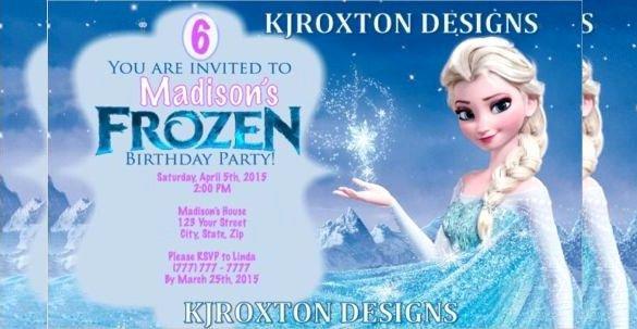 Frozen Birthday Invitation Template Lovely 1000 Ideas About Free Frozen Invitations On Pinterest