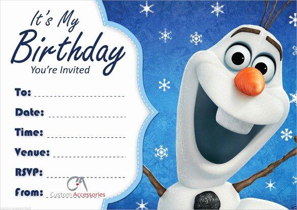 Frozen Birthday Invitation Template Lovely 23 Frozen Birthday Invitation Templates Psd Ai Vector